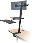 MooreCo Up-Rite Front Mount Dual Screen Sit To Stand Workstation 90531