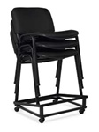 Black Armless Stack Chair 11704 by Offices To Go