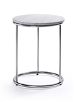 Woodstock Marketing Harden Contemporary Accent Table with White Marble Top