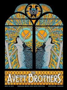 The Avett Brothers Concert Poster by Pat Hamou