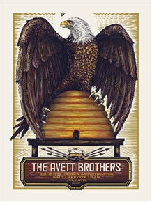 The Avett Brothers Concert Poster by Zeb Love