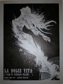La Dolce Vita Movie Poster for the Castro Theatre by David O'Daniel AKA Alien Corset