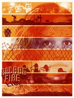 Arcade Fire Spring 2011 Tour Poster #2 by Wes Winship (Burlesque of North America/Burlesque Design)