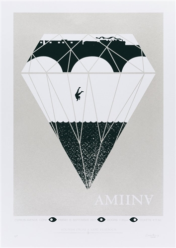Amiina concert poster by Craig Carry
