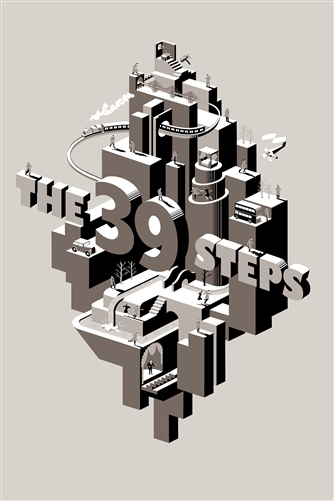 The 39 Steps Movie Poster (Variant)