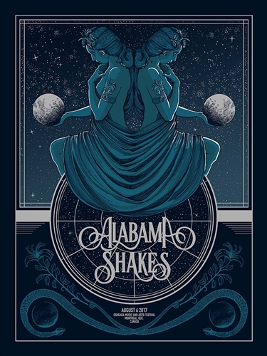 Alabama Shakes Concert Poster by Pat Hamou