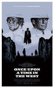 Once Upon A Time In The West Movie Poster by Oliver Barrett for the Astor Theatre, Melbourne