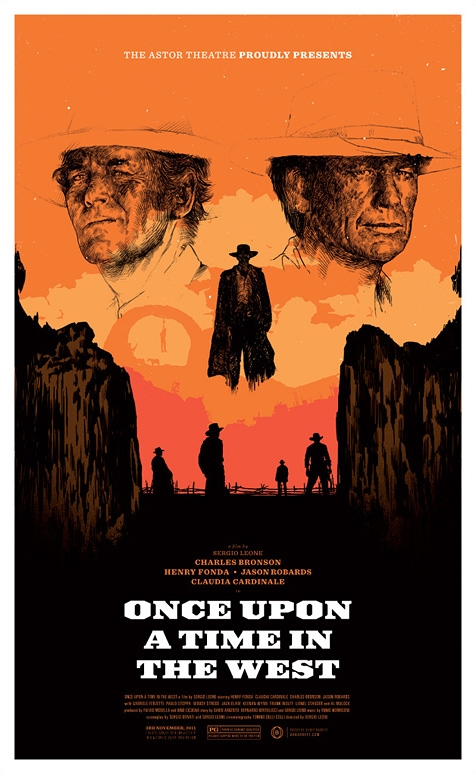 Once Upon A Time In The West Regular Edition Astor Theatre Poster By Oliver Barrett