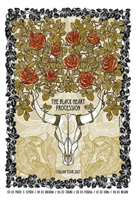 Black Heart Procession Concert Poster by Sabrina Gabrielli