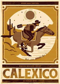 Calexico Concert Poster by Telegramme