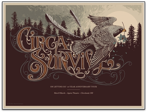 Circa Survive Concert Poster by Alex Wezta