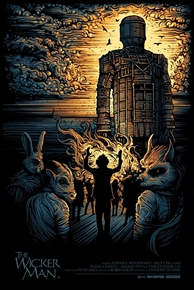 The WIcker Man Movie Variant Edition Poster by Dan Mumford