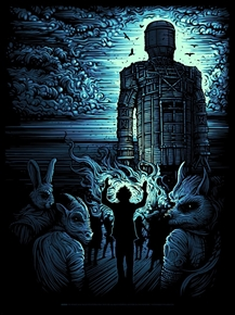 The WIcker Man Art Print by Dan Mumford