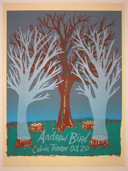 Andrew Bird (Ghost Trees) Concert Poster by Gina Kelly