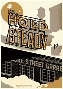 The Hold Steady Concert Poster by Telegramme