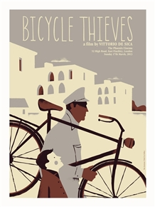 The Bicycle Thieves (Ladri Di Biciclette) Movie Poster by Iker Ayestaran