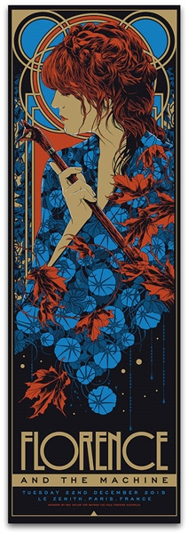 Florence And The Machine Concert Poster Ken Taylor