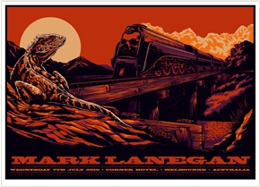 Mark Lanegan Concert Poster by Ken Taylor