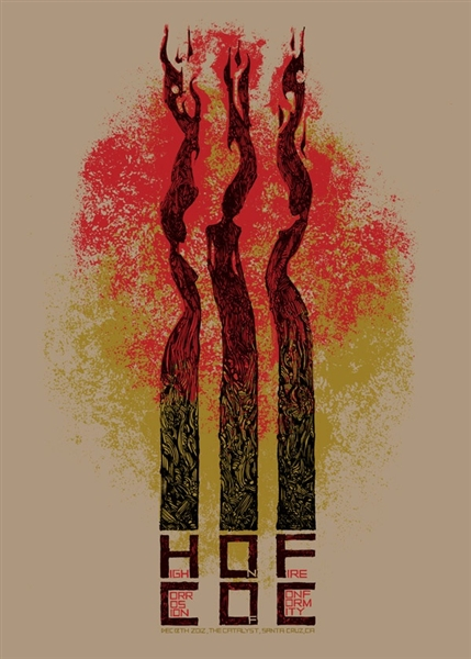High On Fire Concert Poster by Malleus