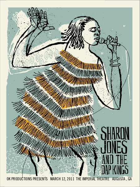 Sharon Jones Concert Poster by Methane Studios