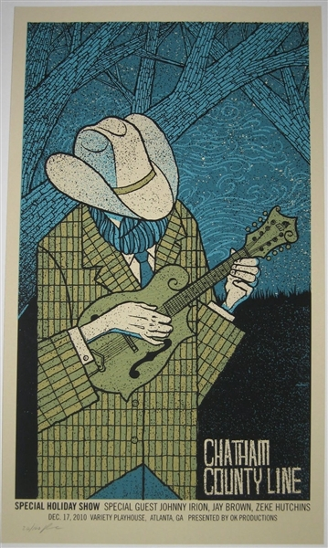 Chatham Country Line Concert Poster by Methane Studios