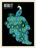 Beirut Concert Poster by Methane Studios