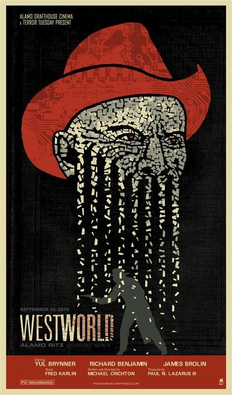 westworld movie poster by methane studios