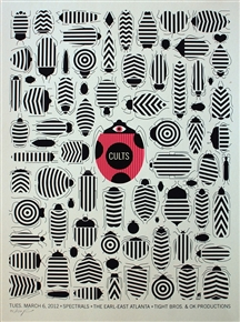 Cults Concert Poster