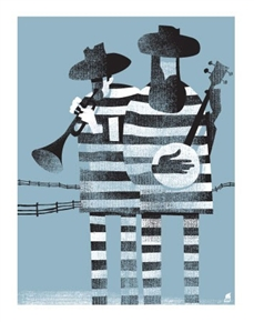 The Prisoner Blues Art Print by Methane Studios