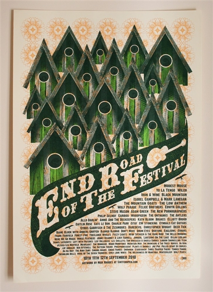 End of the Road Festival 2010 Poster Nick Rhodes