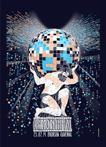 Of Montreal Concert Poster by Sabrina Gabrielli
