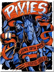 Pixies Concert Poster by Brandon Heart