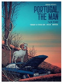 Portugal. The Man Concert Poster by Pat Hamou
