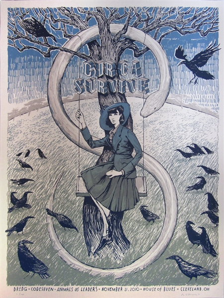 Circa Survive Concert Poster by Rich Kelly