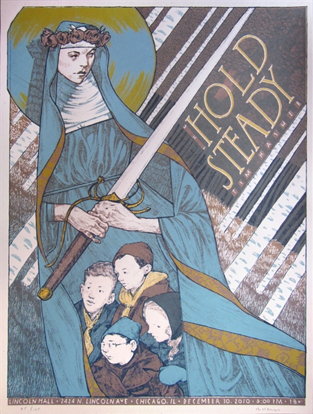 The Hold Steady Concert Poster by Rich Kelly