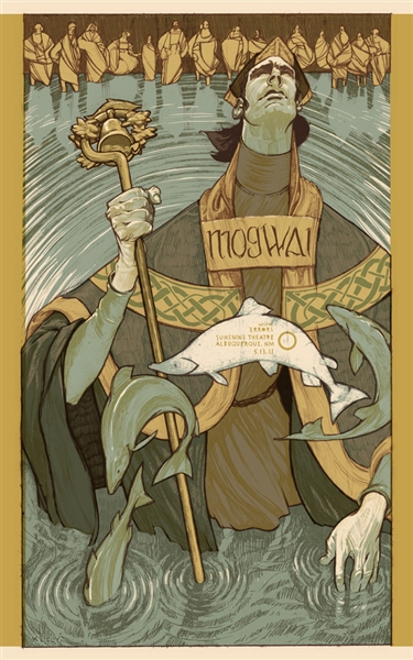 Mogwai Concert Poster by Rich Kelly