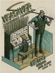 Yeasayer Concert Poster by Rich Kelly