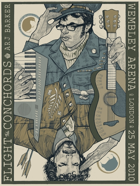Flight Of The Conchords Concert Poster by Rich Kelly