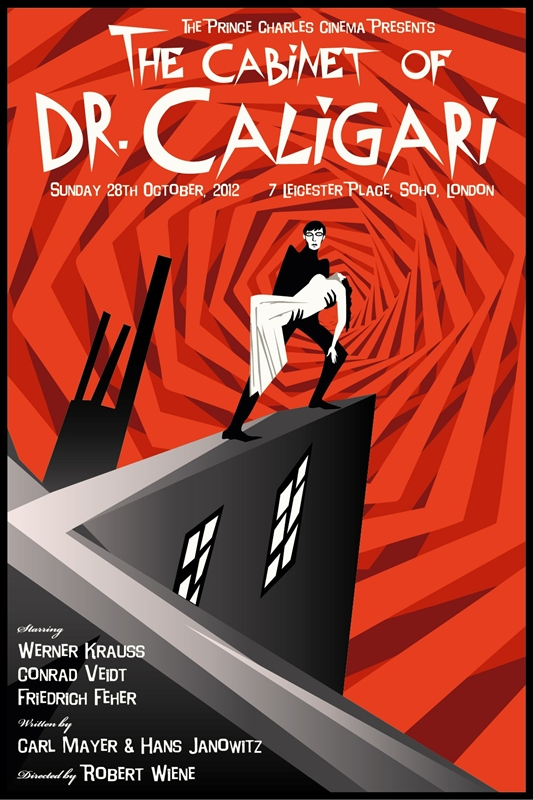 of Dr. Caligari (The) Movie Poster by Rodolfo Reyes