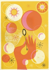 Summer Bubbles Print by Telegramme