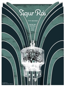 Sigur Ros Concert Poster by Pat Hamou