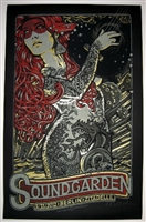 Soundgarden Concert Poster by Lars P Krause