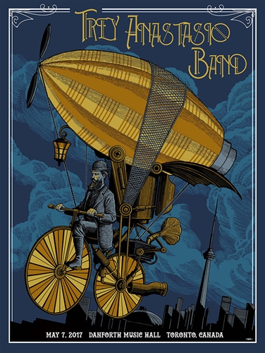 Trey Anastasio Band Concert Poster by Pat Hamou