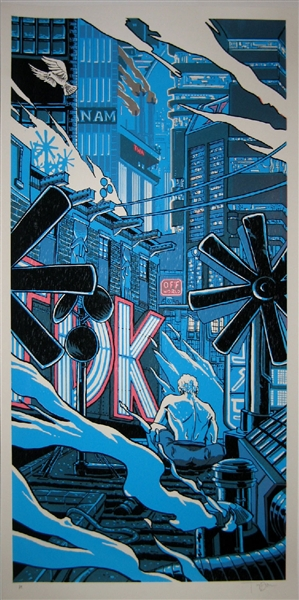 Tears In The Rain Blade Runner Art Print by Tim Doyle