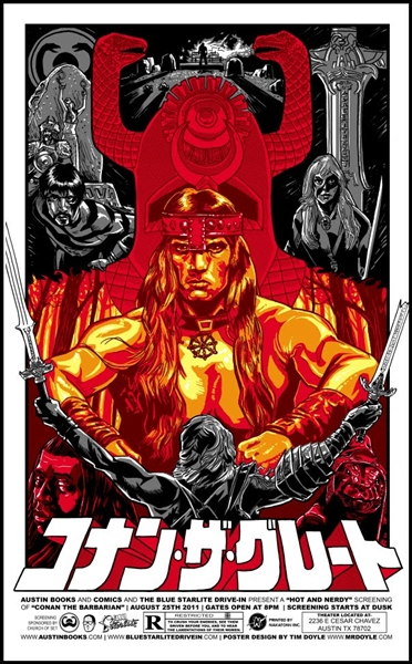 Conan The Barbarian Movie Poster by Tim Doyle