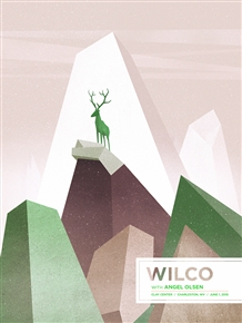 Wilco and Angel Olsen concert poster by Housebear design