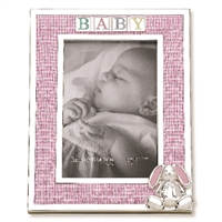 Gingham Bunny Pink Photo Frame