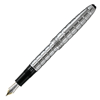 Montblanc Meisterstuck Solitaire Platinum Plated Facet LeGrand Fountain Pen