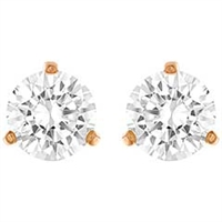 Solitaire Pierced Earrings