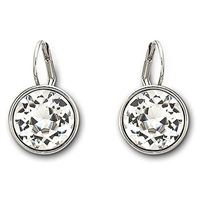 Bella Clear Crystal Pierced Earrings